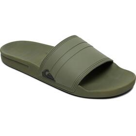 Quiksilver Rivi Slide Sandalias Hombre, green/green/black